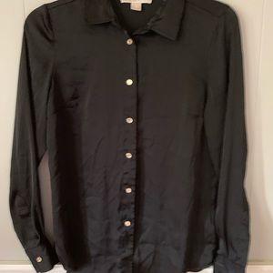 Michael Kors Button Front Blouse Black